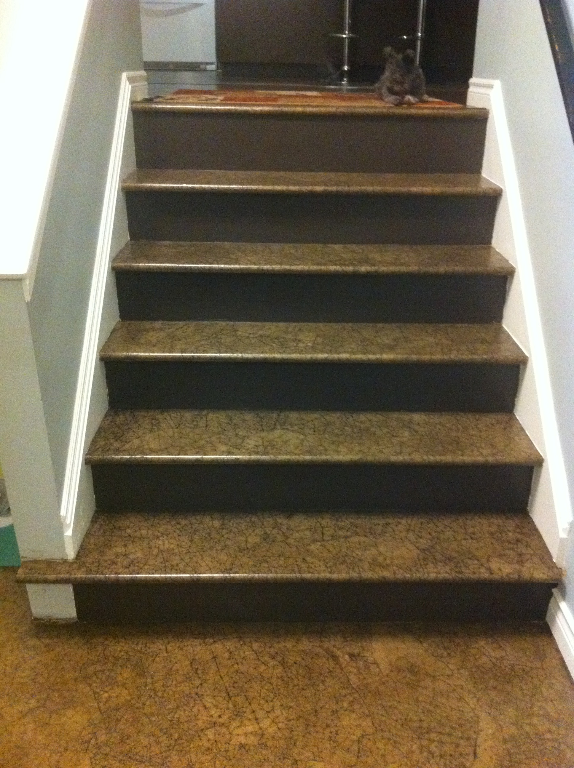 Paper Bag floor stairs